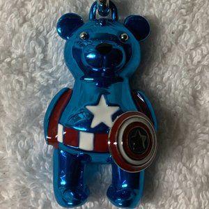 COACH Marvel Captain America Bear Charm/Key Chain